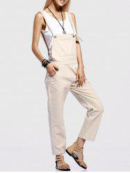 Stylish Pocket Design Straight Leg Women's Overalls -