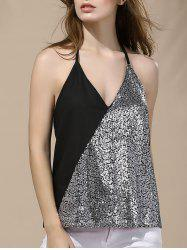 Halter Sequin Backless Tank Top