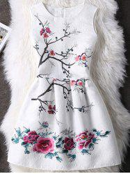 High-Waist Floral Going Out Dress