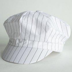 Chic Slender Vertical Stripe Pattern Cool Summer Painter Hat For Women -