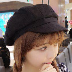 Chic Solid Color Cool Summer Hipsters Suede Painter Hat For Women -