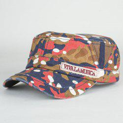 Letters Applique Army Camouflage Print Cool Summer Military Hat