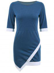 Asymmetric Mini Sheath Dress -