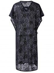 Lace See-Through Cover-Up Chic Femmes - Noir