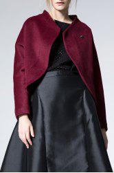 Open Front Wool Blend Jacket -