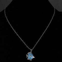 Chic Hollow Out Fish Noctilucent Necklace For Women