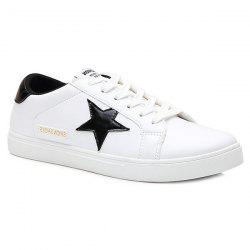 Trendy Colour Block and Star Design Athletic Shoes For Men -