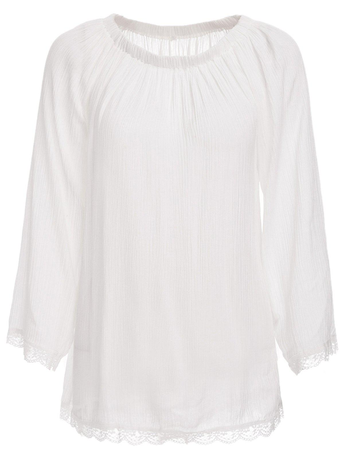 Store Off The Shoulder Long Sleeve Tunic Cover Up