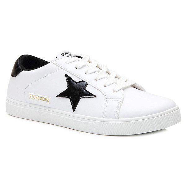 Cheap Trendy Colour Block and Star Design Athletic Shoes For Men