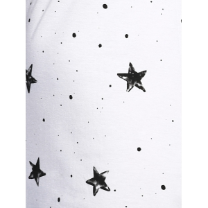 Casual Scoop Neck Star Print Sleeveless Dress For Women -