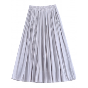 Stylish High Waist Chiffon Pleated Skirt For Women -