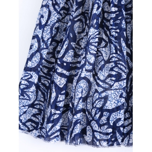 Stylish High Waist Chiffon Pleated Printed Skirt For Women -