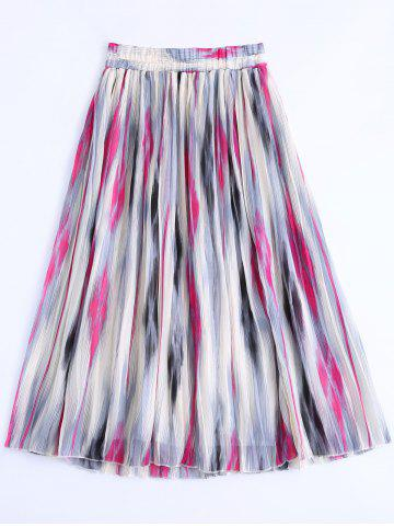 Hot Printed Elastic Waist Skirt For Women