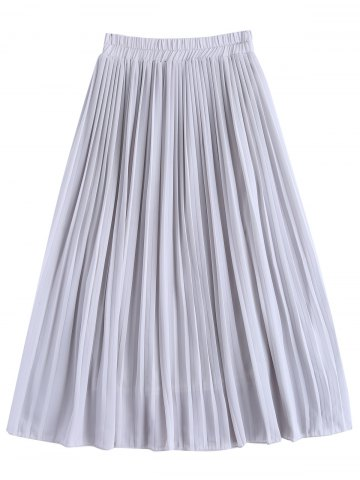 Best Stylish High Waist Chiffon Pleated Skirt For Women