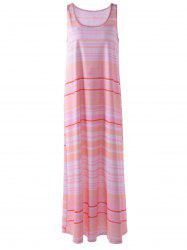 Sleeveless Stripe Maxi Casual Dress