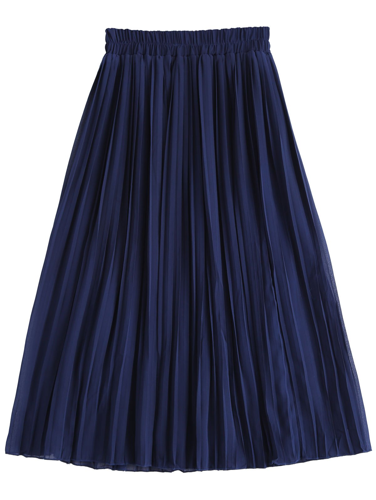 Discount Stylish High Waist Chiffon Pleated Skirt For Women