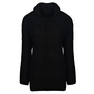 Stylish Hooded Long Sleeve Irregular Hem Women's Oversized Sweater - Black - One Size(fit Size Xs To M)