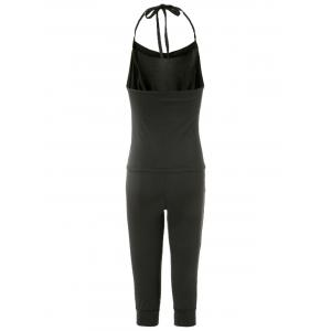 Charming Halterneck Black Jumpsuit For Women - BLACK ONE SIZE