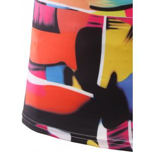 Slimming Color Printing Round Collar Short Sleeves T-Shirts For Men -