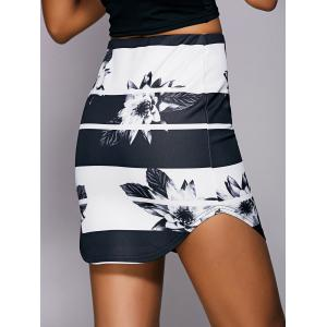 Casual Floral Print Mini Skirt For Women -