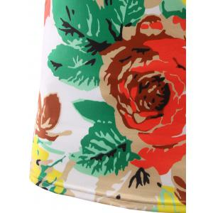 Slimming Flower Printed Round Collar Short Sleeves T-Shirts For Men - COLORMIX 2XL