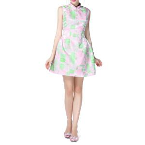 Chinese Frog Button Sleeveless Dress -