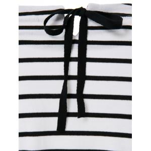 Casual Scoop Neck Long Sleeves Striped Dress For Women -