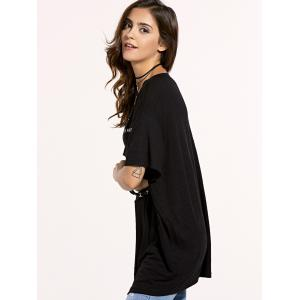 Fashionable Letter Print Loose-Fitting Women's T-Shirt -
