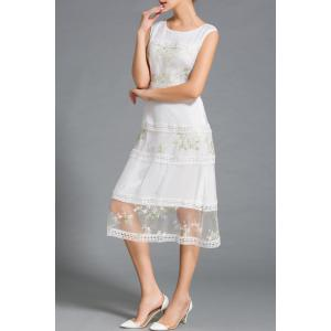 Lace Spliced Embroidery Dress -