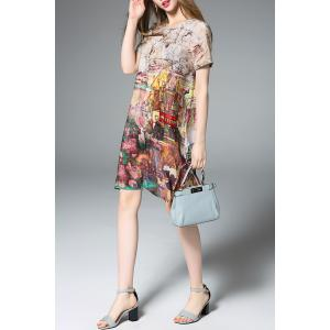 Loose Fit Hand-Painted Silk Dress -