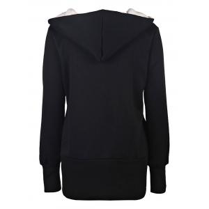 Casual Hooded Long Sleeve Women's Zip Up Hoodie -