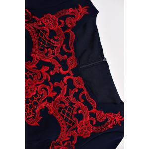Square Neck Embroidered Mermaid Dress -