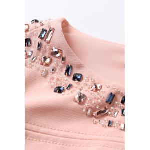 Short Sleeve Jewelled Bodycon Dress -