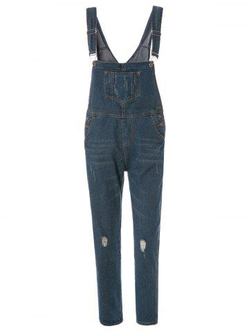 Outfits Street Style Destroy Wash Slimming Denim Overalls For Women