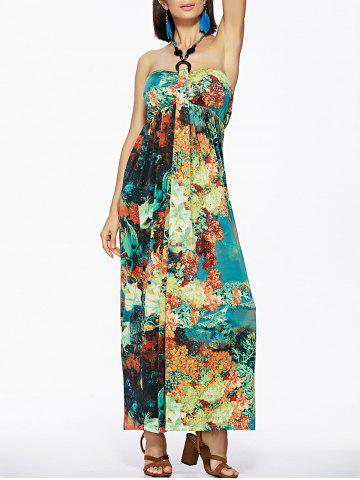 Outfits Bohemian Style Women's Halter Print Dress