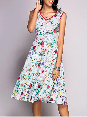 Buy Sweetheart Neck Floral Print Midi Dress
