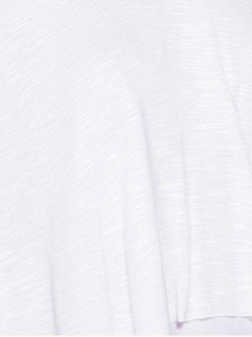 Discount Casual Scoop Neck Ruffled Tiered T-Shirt For Women - L WHITE Mobile