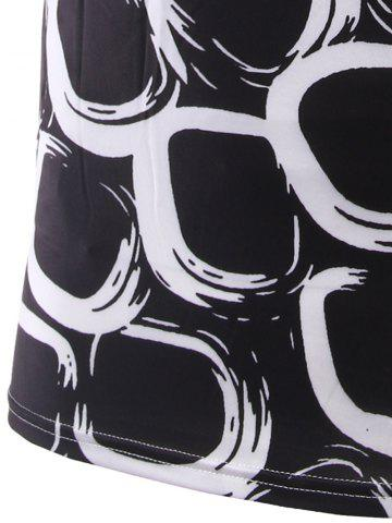 Fancy Slimming Printing Round Collar Short Sleeves T-Shirts For Men - XL BLACK Mobile