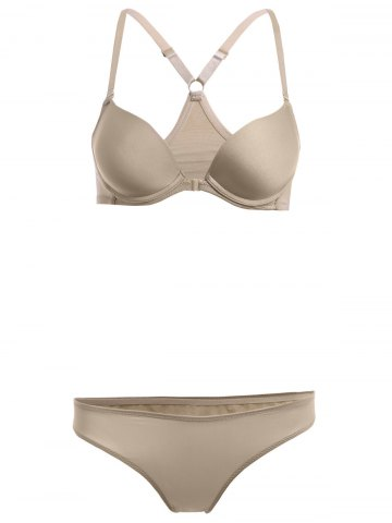 Outfit Underwire Push Up Demi Bra and Panty