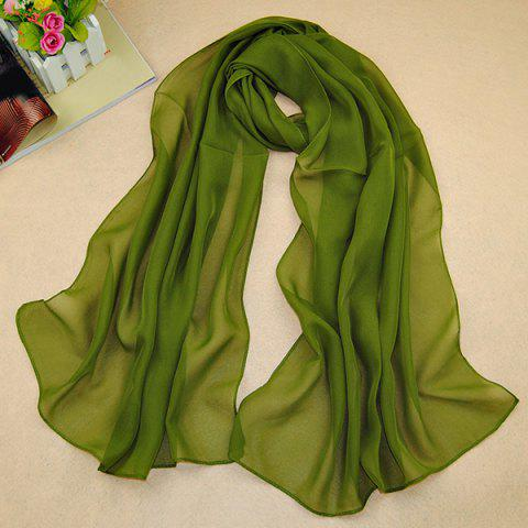 Chic High Quality Solid Color Chiffon Scarf For Women - ARMY GREEN