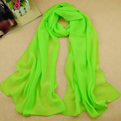 NEON GREEN High Quality Solid Color Chiffon Scarf For Women