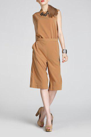 Shops Elegant Sleeveless Cropped Jumpsuit