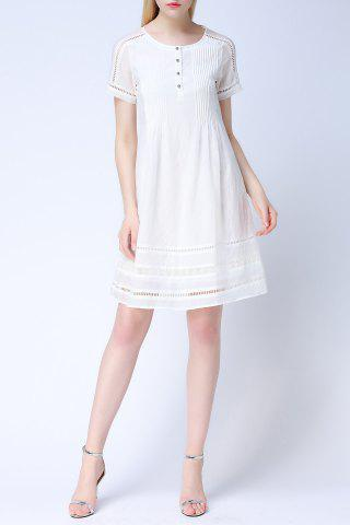 Latest Cut Out Lace Spliced Dress