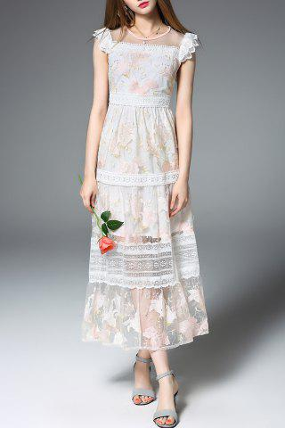 Sale Frilled Lace Patchwork Prom Dress