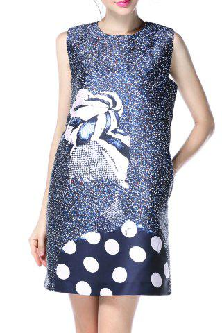 New Polka Dot Sleeveless Print Dress