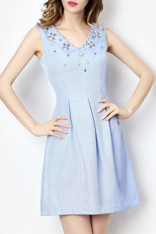 Outfit Sleeveless Beaded Fit and Flare Dress