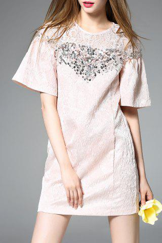 Outfit Bell Sleeve A-Line Jacquard Dress