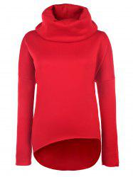 Drop Shoulder Pullover Sweatshirt - RED