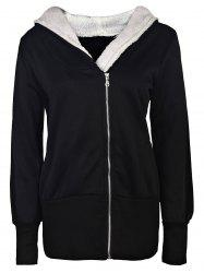 Casual Hooded Long Sleeve Women's Zip Up Hoodie