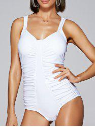 Ruched Slimming One Piece Swimwear